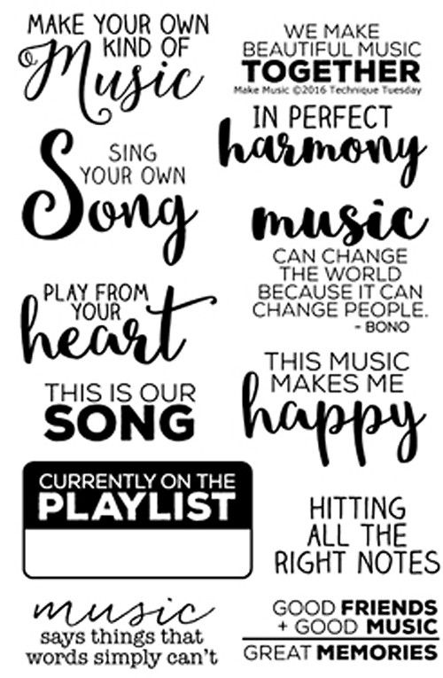 """TECHNIQUE TUESDAY: Make Music (4"""" x 6"""" Clear Photopolymer Stamp) This clear…"""
