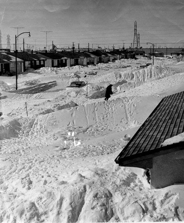 Weather 1966 Snowstorm in Winnipeg manitoba