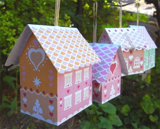 Gingerbread House mini gift boxes PDF | Craft | Pinterest