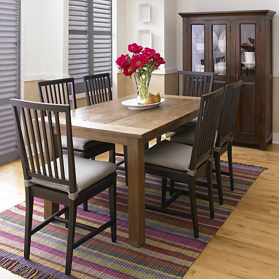 Terravida 63 Dining Table In Dining Tables Crate And Barrel Rustic Kitchen Tableskitchen Chairsdining