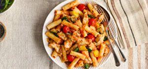 Chicken & Mediterranean vegetable pasta - Recipes - Slimming World