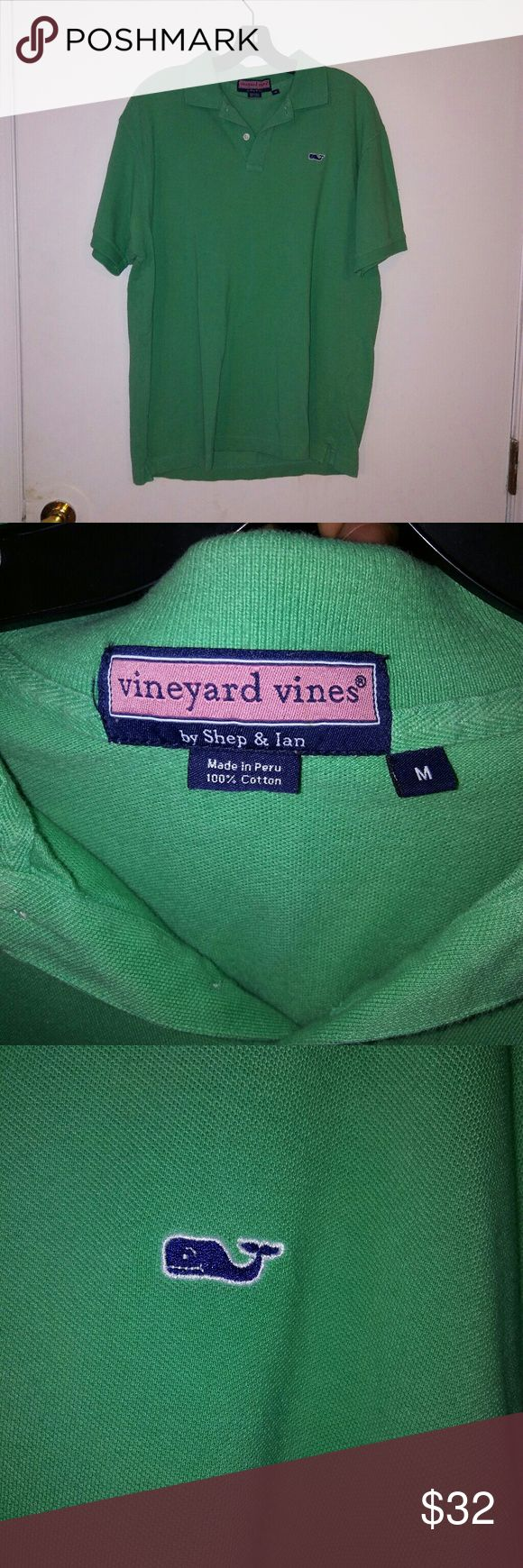 "Vineyard Vines Men Medium Light Green Polo Shirt No rips or stains, RN 2318245, 21"" acrosa & 27"" in length, 100% cotton Vineyard Vines Shirts Polos"