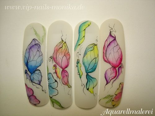 Aquarell by vipnailsmonika from Nail Art Gallery