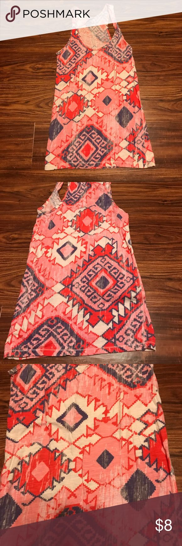 Women's Aztec Print Tank Top Aztec print tank top, 100% cotton. Very bright and comfortable. American Eagle Outfitters Tops Tank Tops