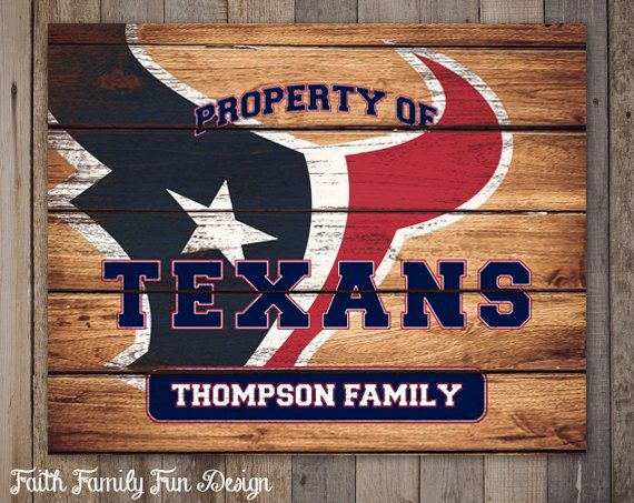 You Are Purchasing A Personalized Digital Printable File Nothing Is Physically Kids Footballfootball Signshouston Texans