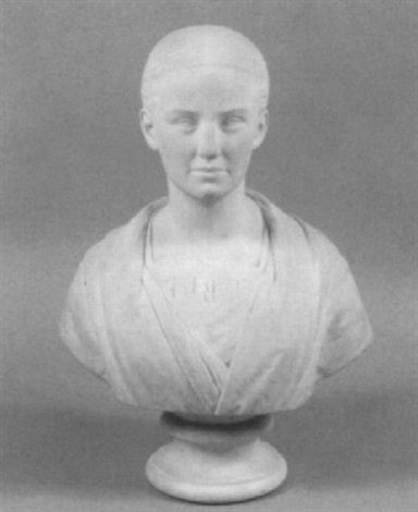 Bust of a lady , 1877–1877 Medium: Marble By  Percival Ball (British, 1844–1900)