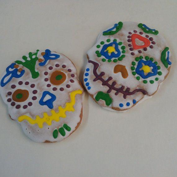 Skullies  One Dozen 12 pcs. Skull Sugar or by MadameGingerbread