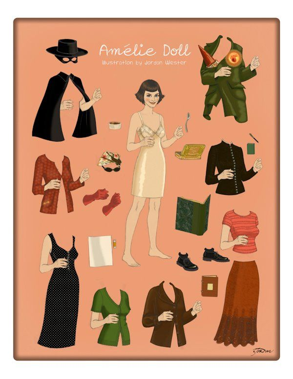 Amelie Paper Doll by Betty Jordan Wester. Image c. Nouvelle Gamine