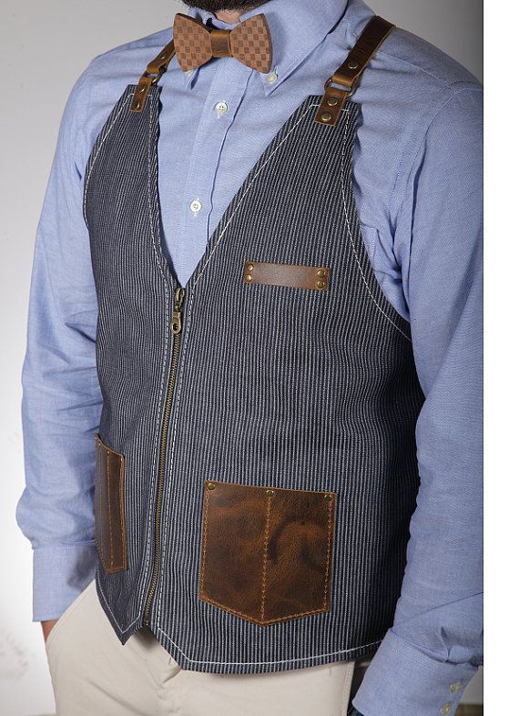 Paul vest apron barber by RassoWorkwear on Etsy