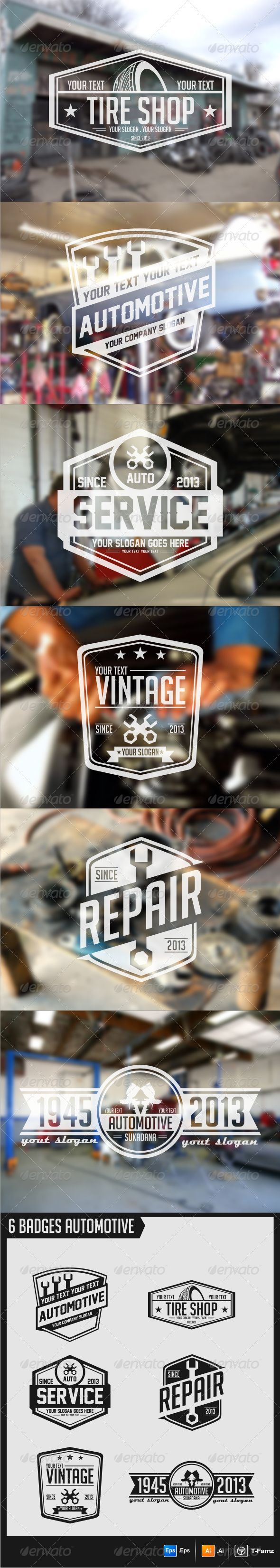 Automotive Badges  EPS Template • Get it now! ➝ https://graphicriver.net/item/automotive-badges/5703189?ref=pxcr