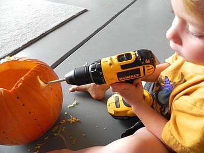 Power Tool To Pumpkin Toddler Fun Well That Is Just A