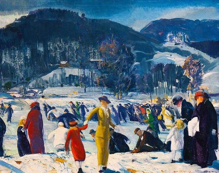 George Wesley Bellows http://www.canvastar.com/product_info_n.php?products_id=292 Title: Love of Winter #bellows #georgewesleybellows #famouspainters #art #print #canvas #decoration #design #landscape #winter #snow