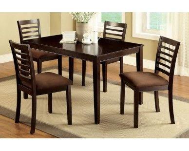 5 Piece Dining Set In Merlot   Sam Levitz Furniture
