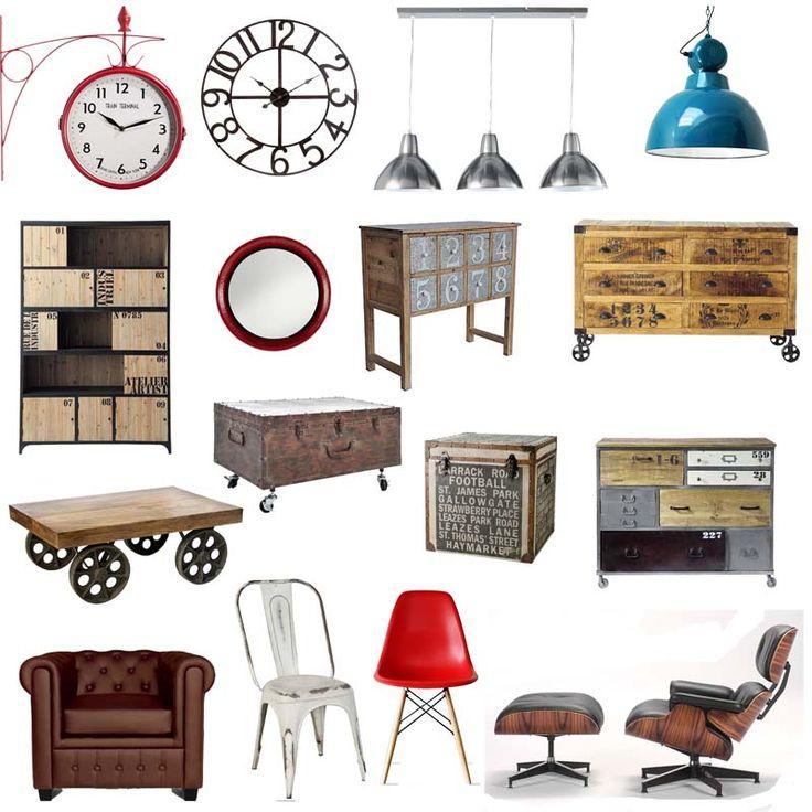 17 mejores ideas sobre muebles industriales en pinterest - Mobiliario vintage industrial ...