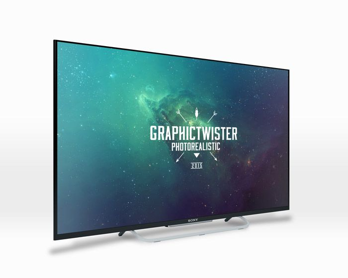 Free Sony Tv Mockup (6.8 MB) | graphictwister.com