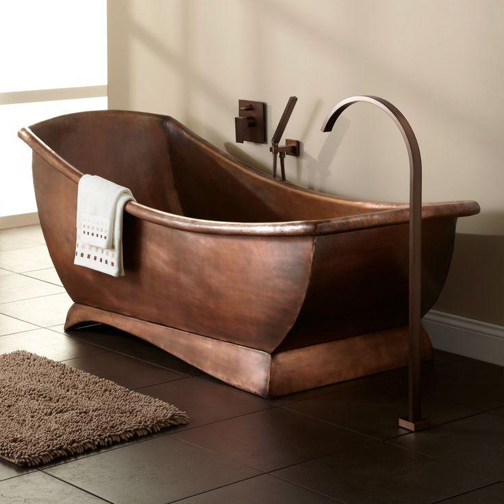 Luxurious Copper Bathtub Design