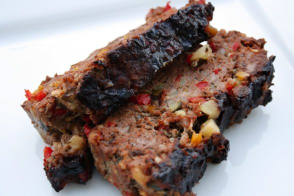 Vegetable Meatloaf with balsamic glaze by Bobby Flay...seriously the BEST meatloaf made with ground turkey and fresh vegetables!!