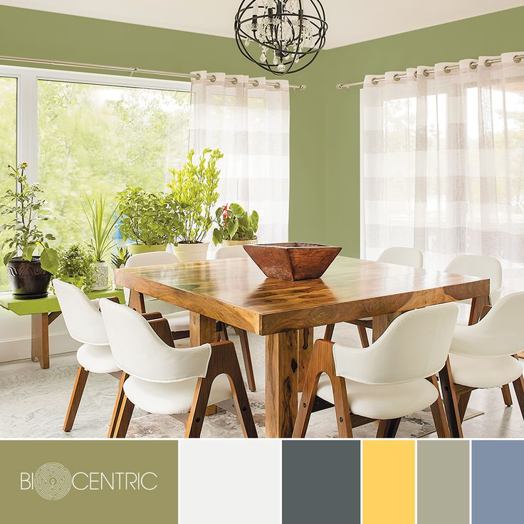 This Earthy Green Dining Room Space Represents The PPG 2017 Color Trend Story BIOCENTRIC