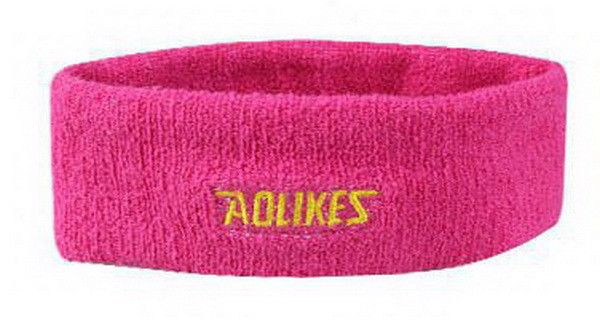 AOLIKES Cotton Sweat Headband For Men Sweatband women Yoga Hair Bands Head Sweat Bands Sports Safety