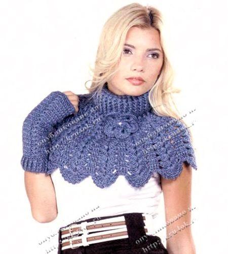 Knit camicia-front e guanti