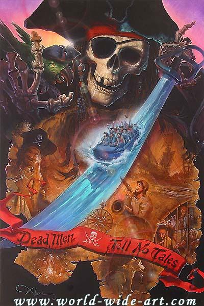 Pirates of the Caribbean - Dead Men Tell No Tales - John Alvin - World-Wide-Art.com - #piratesofthecarribean #disney #disneyland