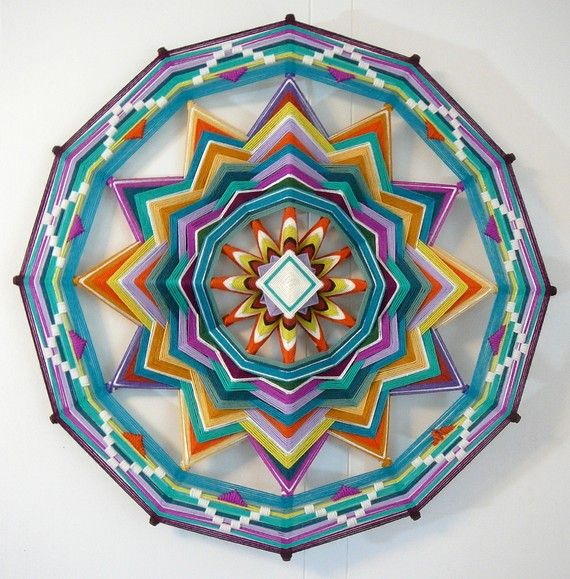 Sound of Silence, a 24 inch, 12-sided, Ojo de Dios Mandala
