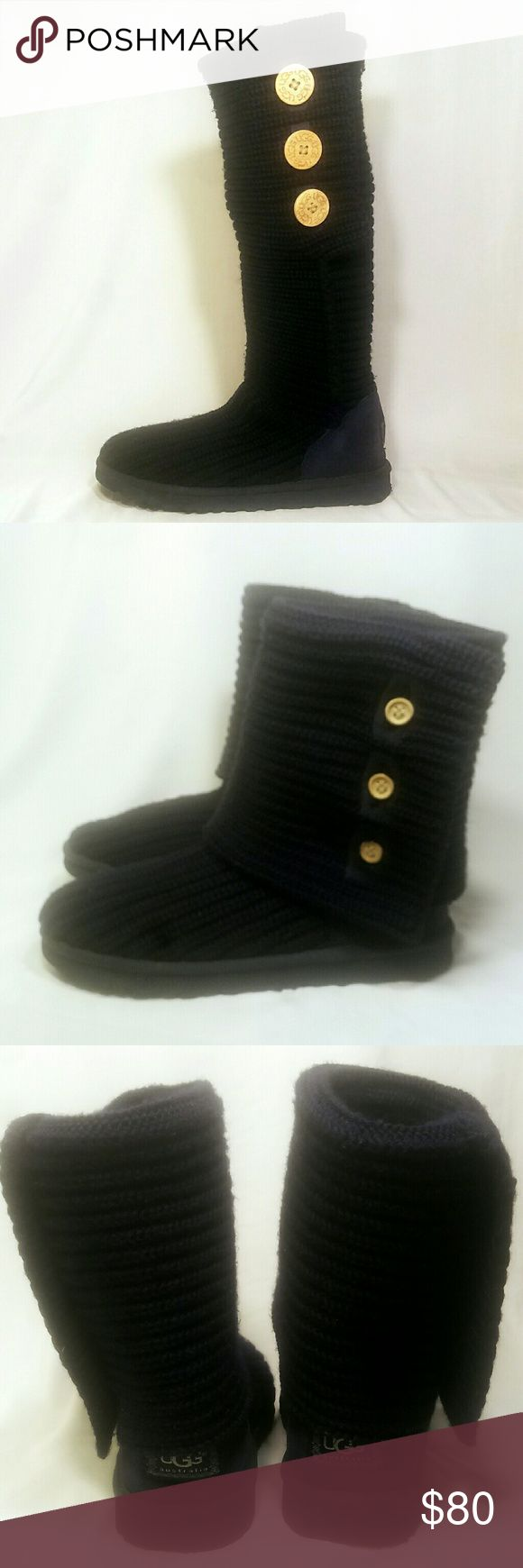 UGG Cardy Knit Boots Great condition.  Almost new. Wool insole could be replaced but doesn't need to be. That is your preference. UGG Shoes Winter & Rain Boots