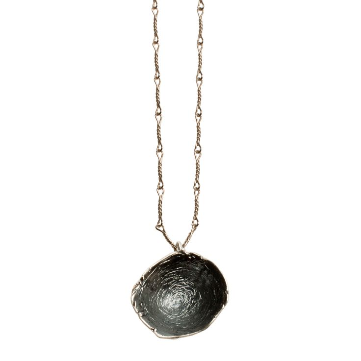 "Statement pendant from NOILENCE's Unity collection.  Materials: Pendant-- Oxidized sterling silver  Measurements: Chain-- 40 cm (15.7"") on either side, Pendant-- 3.5 cm x 3.5 cm (1.4"" x 1.4"")  Designed in: Greece  Crafted in: Greece"