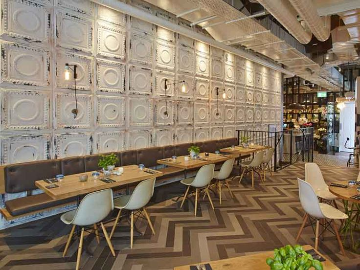 fusion design architecture the happenstance london the wall tiles are distressed metal