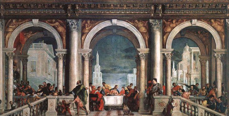 Paolo Veronese Uczta w domu Lewiego | 1573, Galleria dell' Accademia, Wenecja