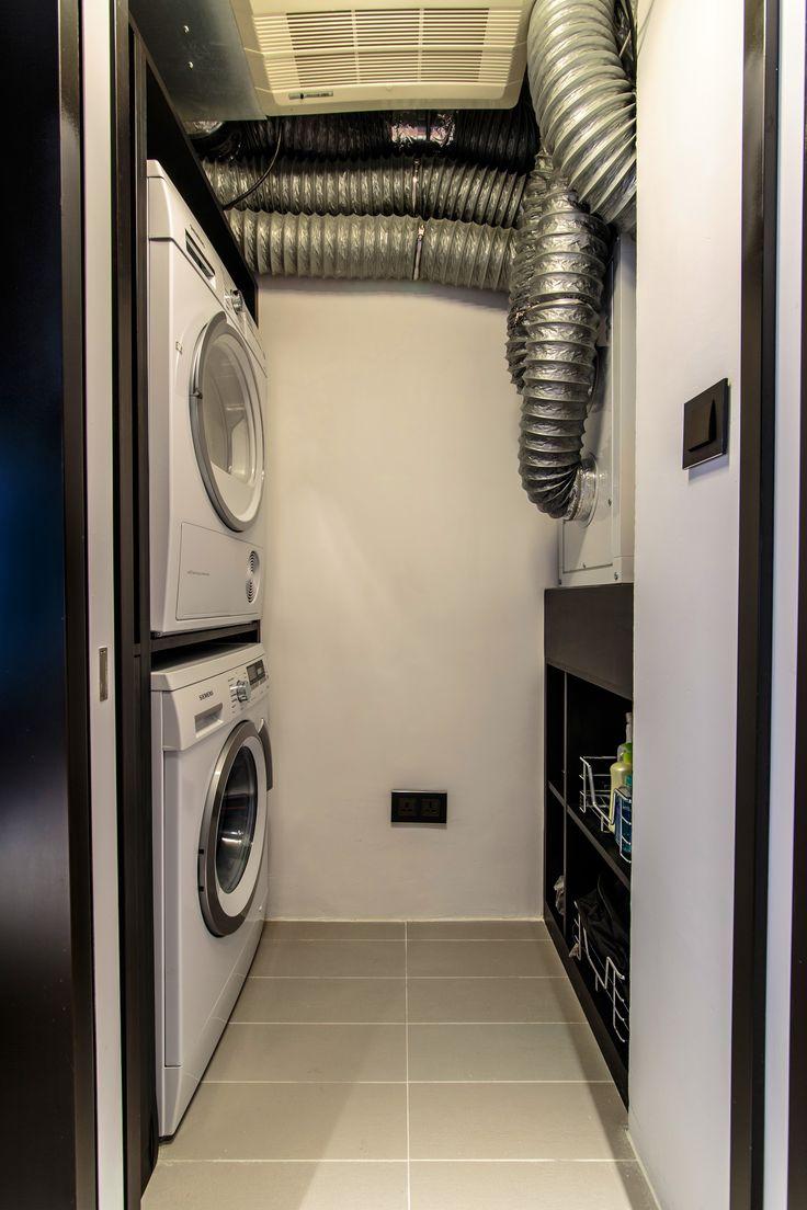 Vivid eco health show flat, Hong Kong by Liquid Interiors - laundry, bathroom design, air purifying, eco interior design, sustainable interior design, Vivid living