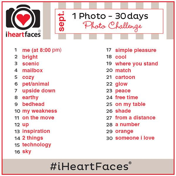 Join the {1 Photo} Challenge with IHeartFaces.com - September 2014 Use the hashtag #iheartfaces