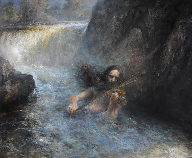 The Waterspirit, Oil on canvas by Jonny Andvik