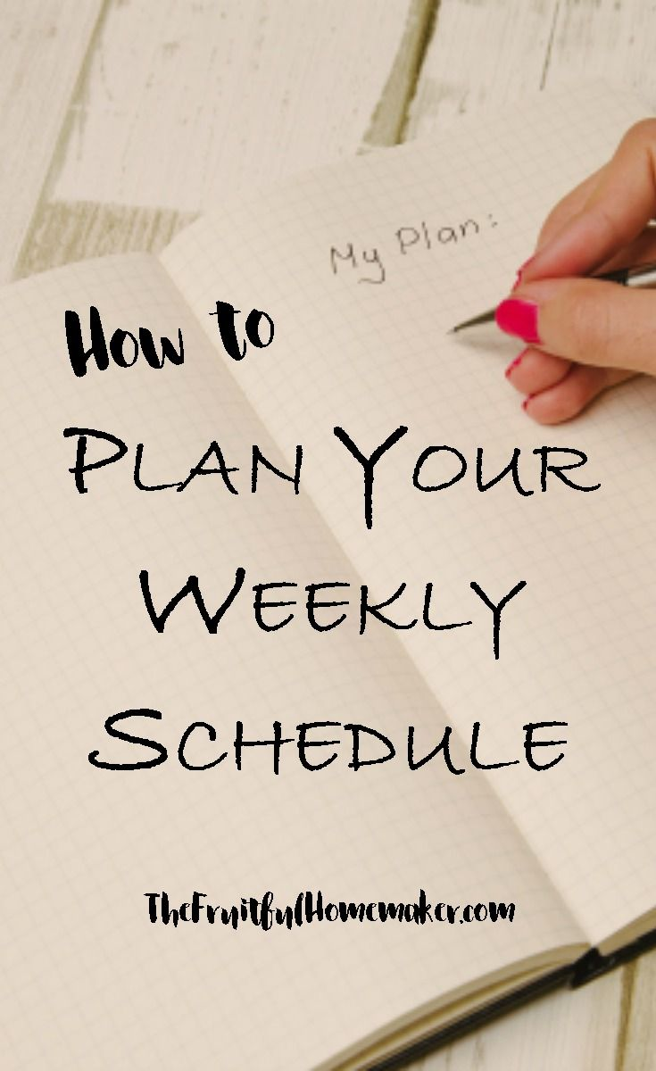 How to plan a weekly schedule. Having a weekly plan for your household tasks will help you to stay organized, get stuff done and not get overwhelmed. Follow my six simple steps to create your weekly routine and be more productive at home. Time management for moms planners, time management schedule weekly planner.
