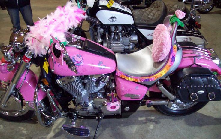 I would definitely have this hello kitty Harley ...