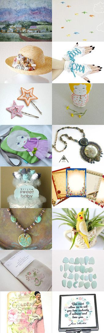 Pastel Summer Gift Ideas by Candan Imrak on Etsy--Pinned with TreasuryPin.com