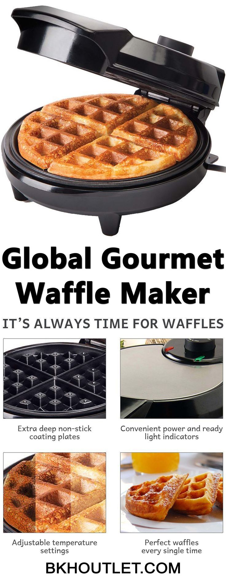 TRADITIONAL AMERICAN WAFFLES BY GLOBAL GOURMET Everyone likes waffles. Especially, when it comes to American waffles. So why not making them at home? │kitchen appliances │blender │coffee maker │hot plates │kettles │mixers │slow cookers │steamers │toasters │kitchen tools │pressure cooker #kitchenappliances #blender #coffeemaker #hotplates #kettles #mixers #slowcookers #steamers #toasters #kitchentools #pressurecooker