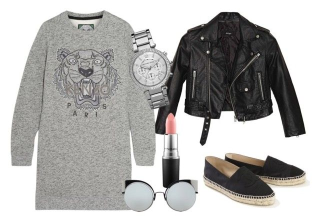 """""""Untitled #4"""" by laczolaura on Polyvore featuring Nasty Gal, Kenzo, Michael Kors, MAC Cosmetics, Fendi and Chanel"""