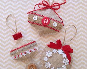 Pan di zenzero feltro ornamenti / decorazioni per di CraftsbyBeba