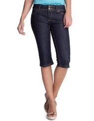 edc by ESPRIT Damen Capri Jeans Normaler Bund, 042CC1B003