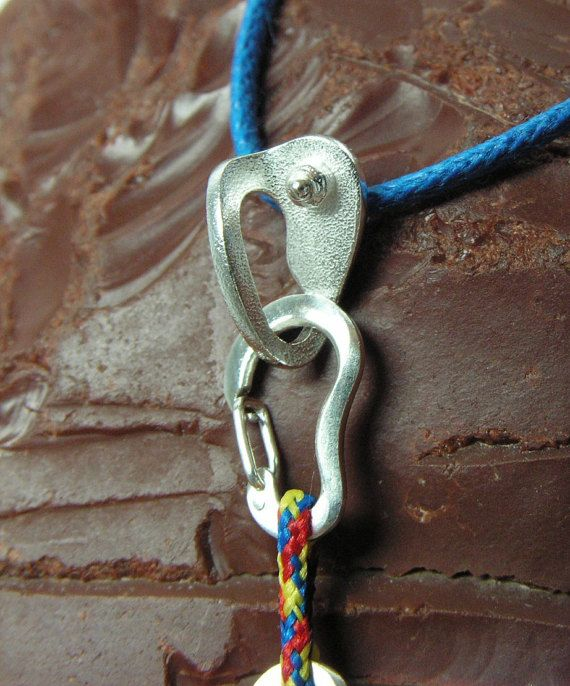 #Climbing #Quickdraw and Bolt Hanger CocoClimbingJewelry with fully functional #carabiner