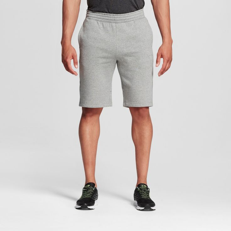 Men's Big & Tall Sizes Fleece Shorts - C9 Champion Stone (Grey) Gray 3XL, Size: Xxxl