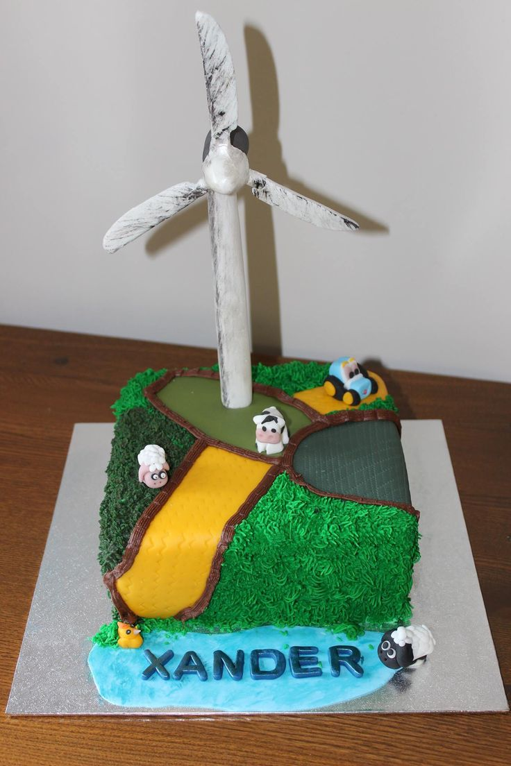 Can you do me a wind turbine cake?  Well, unusual request but love it!