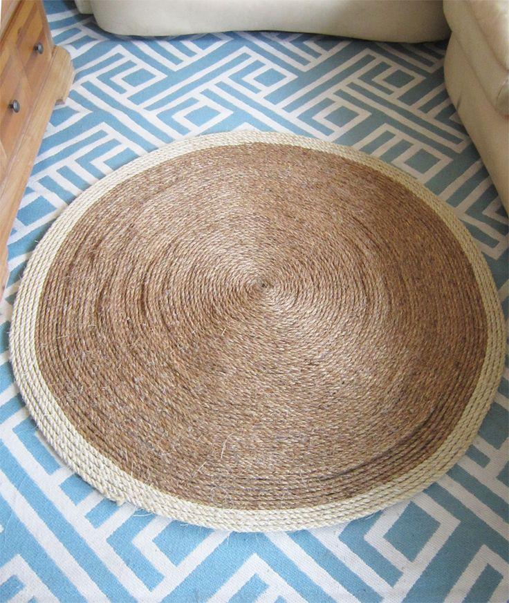 DIY Sisal Rug - The Honeycomb Home | Diy rug, Rope rug ...