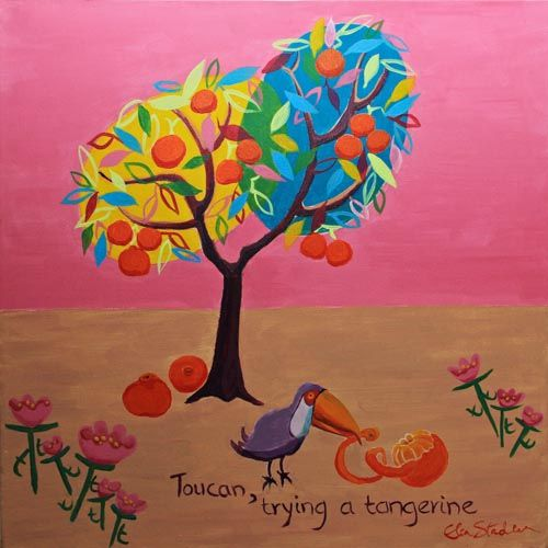 """T is for Toucan....""""Toucan, trying a tangerine'"""