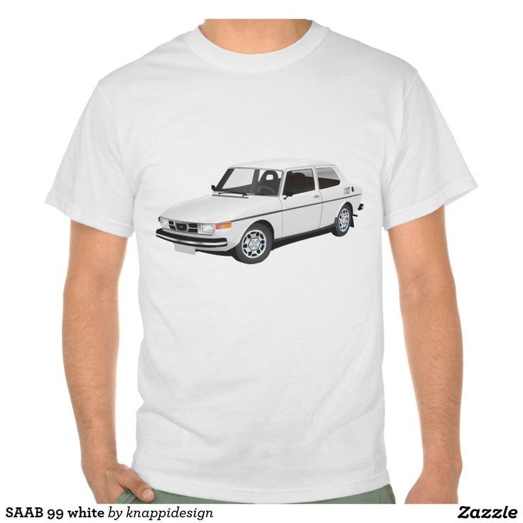 SAAB 99 white t-shirt  #car #bil #auto #tshirt #troja #paita #saab #saab99 #svenska #swedish #sverige #sweden #skjorta #automobile