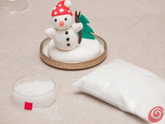 Il tutorial per la palla di neve fai da te: un cuchiano di glicerina aggiunto all'acqua distillata farà in modo che i lustrini restino sospesi più a lungo