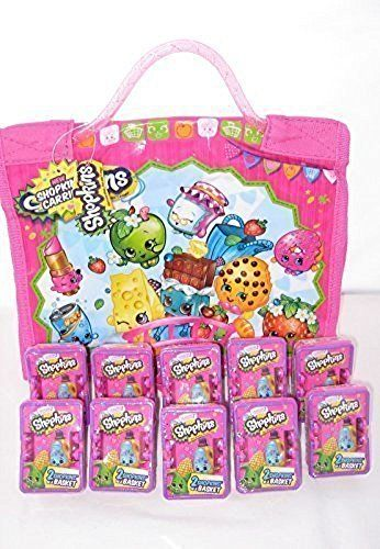 Shopkins 3 compartment carrying case and 10 shopkins seas https