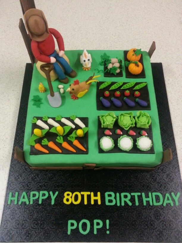 80th Birthday, Farm Cake