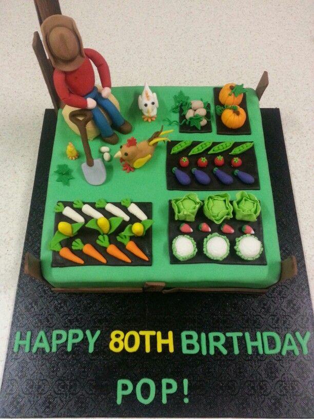 80th Birthday, Farm Cake